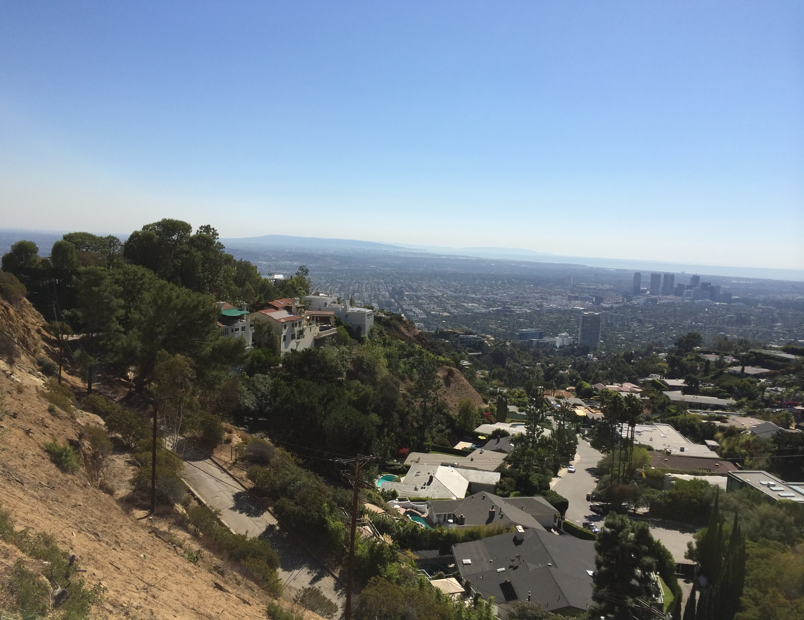 View of the City from Doheny Estates