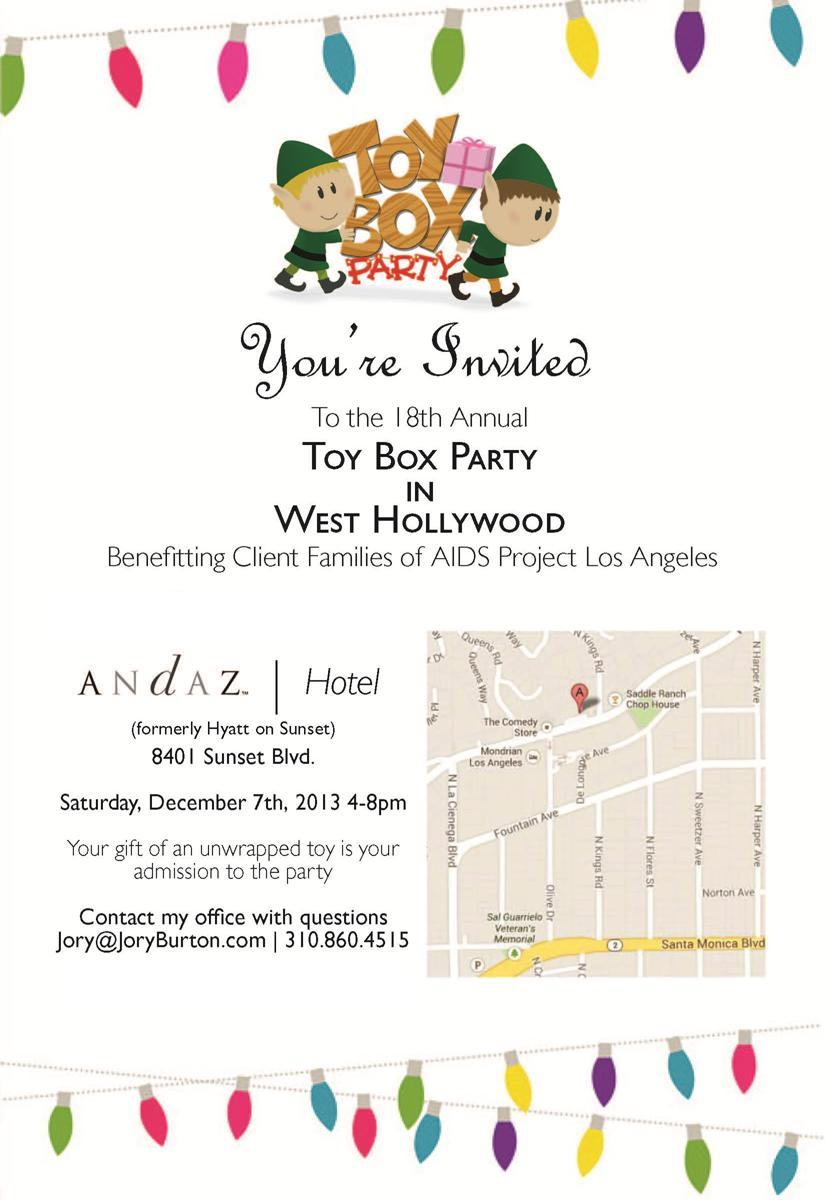 18th Annual Toy Box Party!
