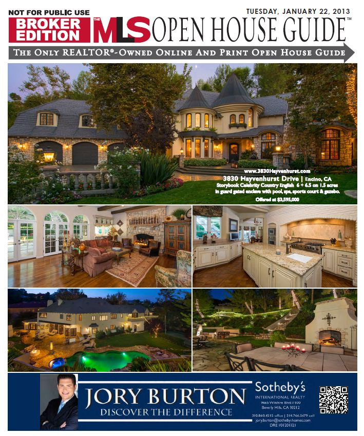 Jory Burton MLS Open House Guide Cover Listing