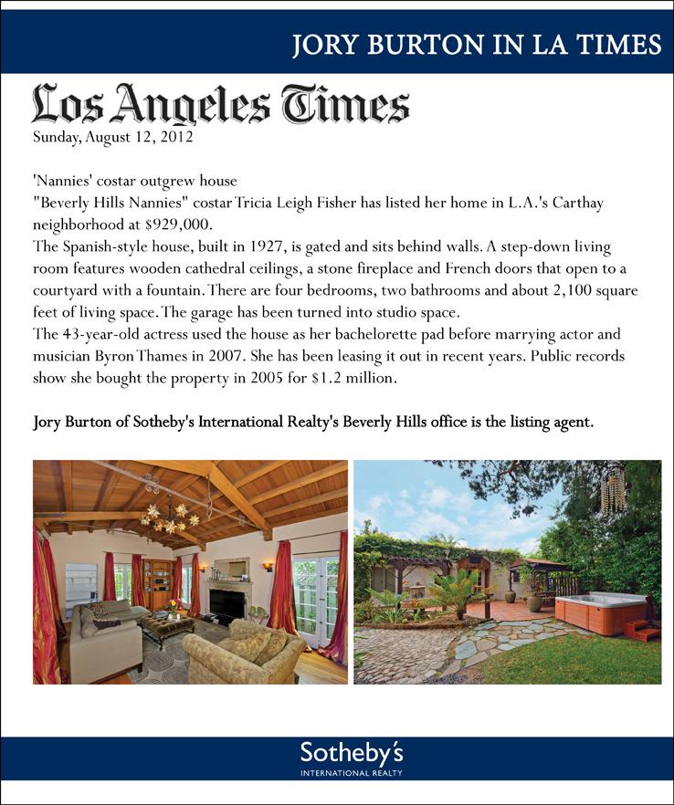 Jory Burton in LA Times