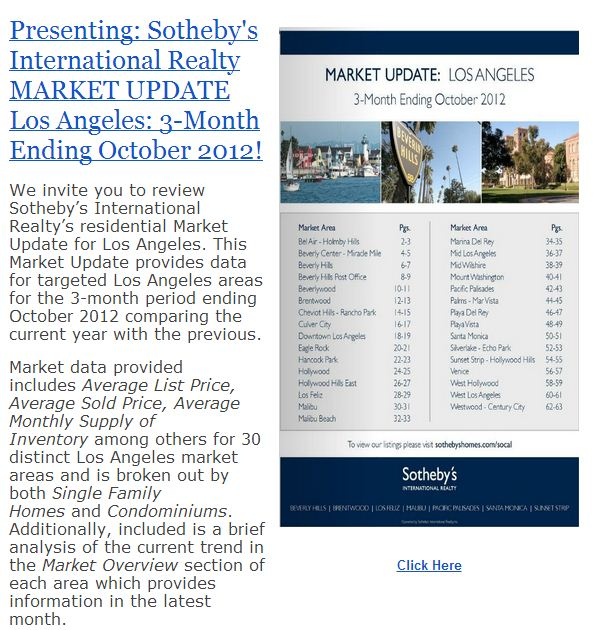 LA Market Update: 3 Mo. Ending 10/12