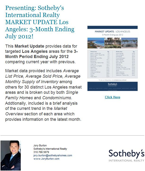LA Market Update: 3 Mo. Ending 7/12