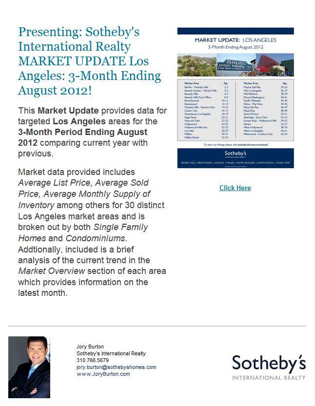 LA Market Update: 3 Mo. Ending 8/12