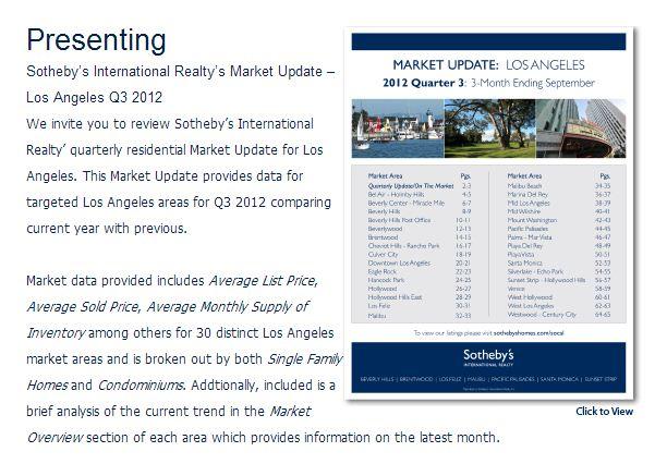LA Market Update: 3 Mo. Ending 9/12