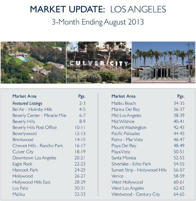 Market Update - 3 month ending August 2013