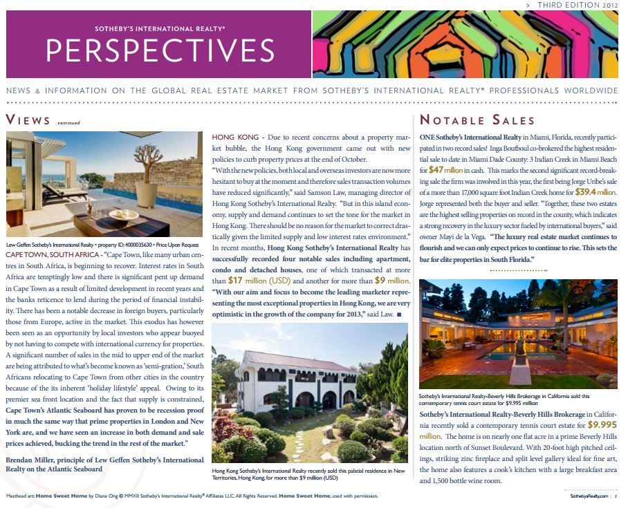 Significant Sale Featured in Perspectives